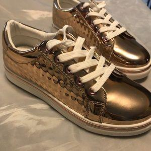 Metallic rose gold  sneakers